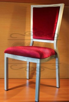 2015 modern high back metal fabric restaurant dining chairs