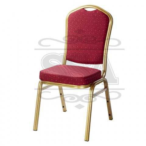 Cheap-padded-stacking-metal-church-chair-for