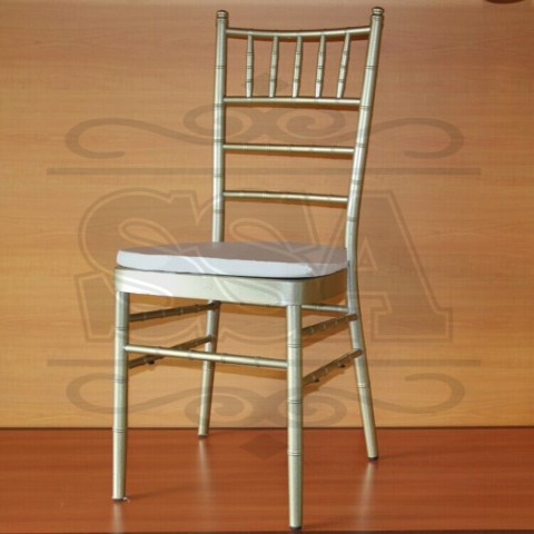 Stacking modern wedding champagne chiavari chair with cushion to buy