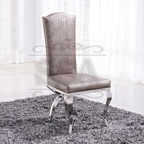 Stainless-steel-high-back-banquet-chair