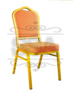 Upholstered-stacking-orange-banquet-chair-for-banquet