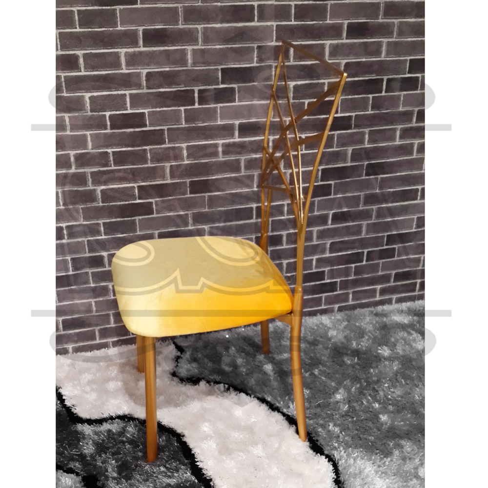 wholesale used Metal golden painting wedding dining chair